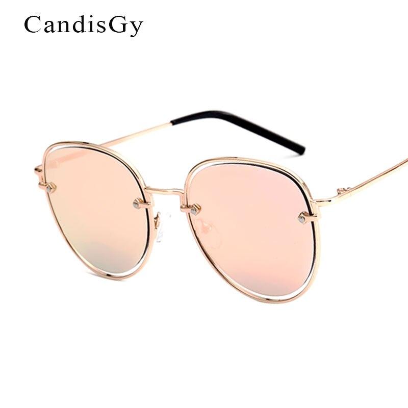 Flat Lens Rose Gold Round Sunglasses Women 2017 N Brand Designer Mirror Sun GlassesFemale Fashion Shades UV400 Shop online Metal