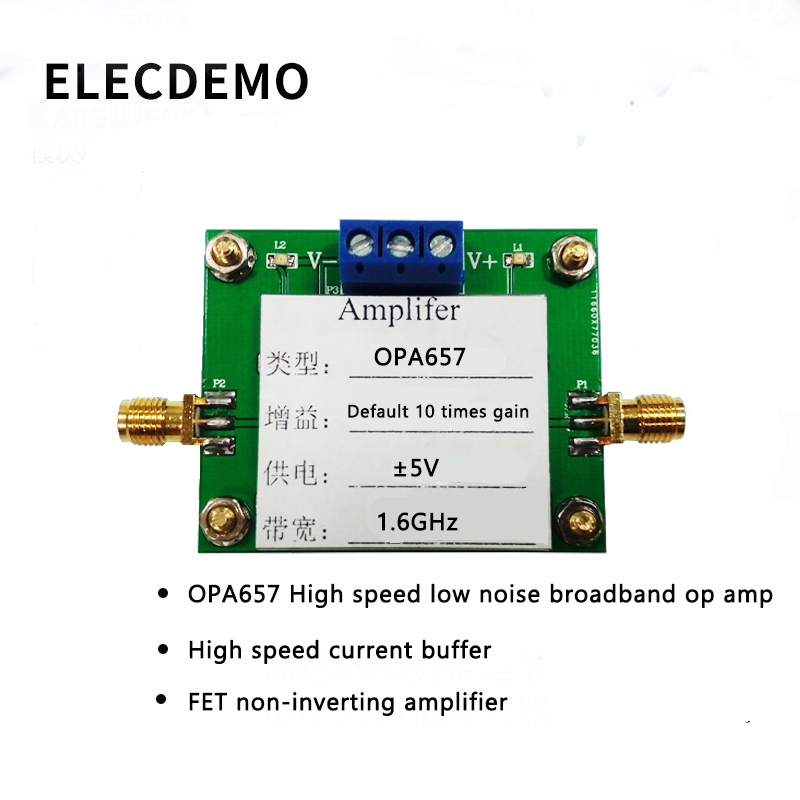 OPA657 Module High Speed Low Noise Wideband Op Amp FET Non Inverting Amplifier High Speed Current Buffer Race Module-in Demo Board Accessories from Computer & Office