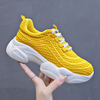 Woman casual shoes Breathable air mesh sneakers women 2019 spring summer slip on platform knitting flats walking shoes women