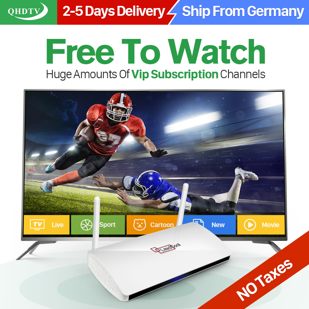 Dalletektv Smart Android TV Box TV Receivers Arabic IPTV Subscription 1 Year QHDTV Account Europe French
