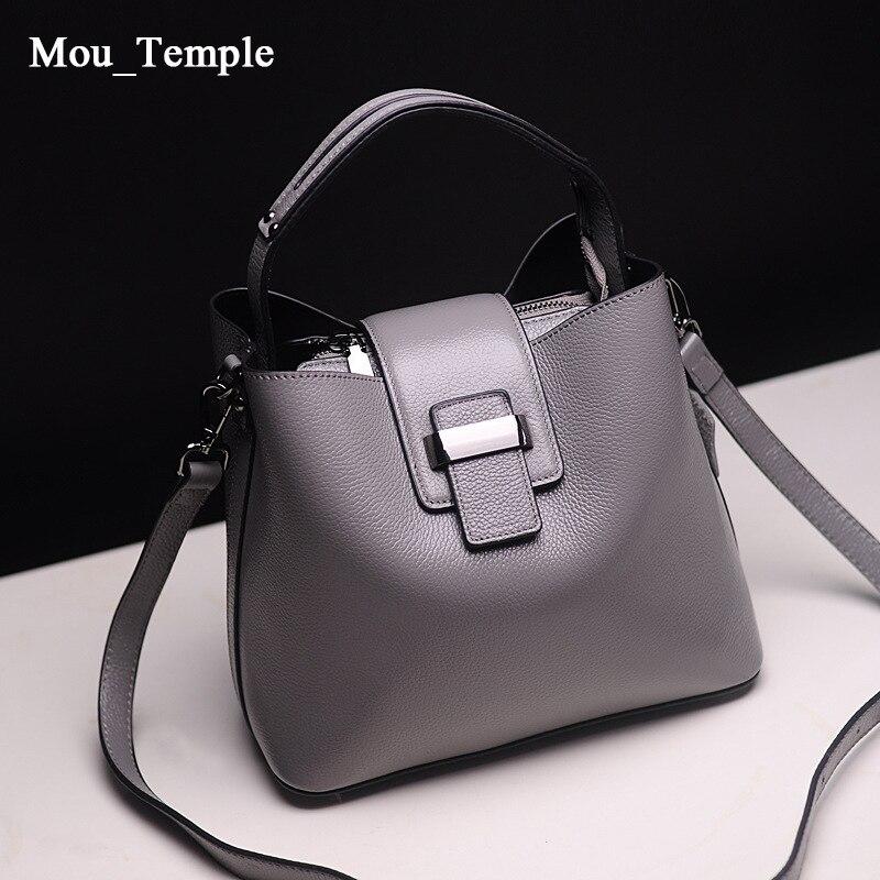 ФОТО 2016 Luxury Brand Designer Women Real Genuine Leather Handbags High Quality Ladies Cowhide Bucket Shoulder Messenger Tote Bag