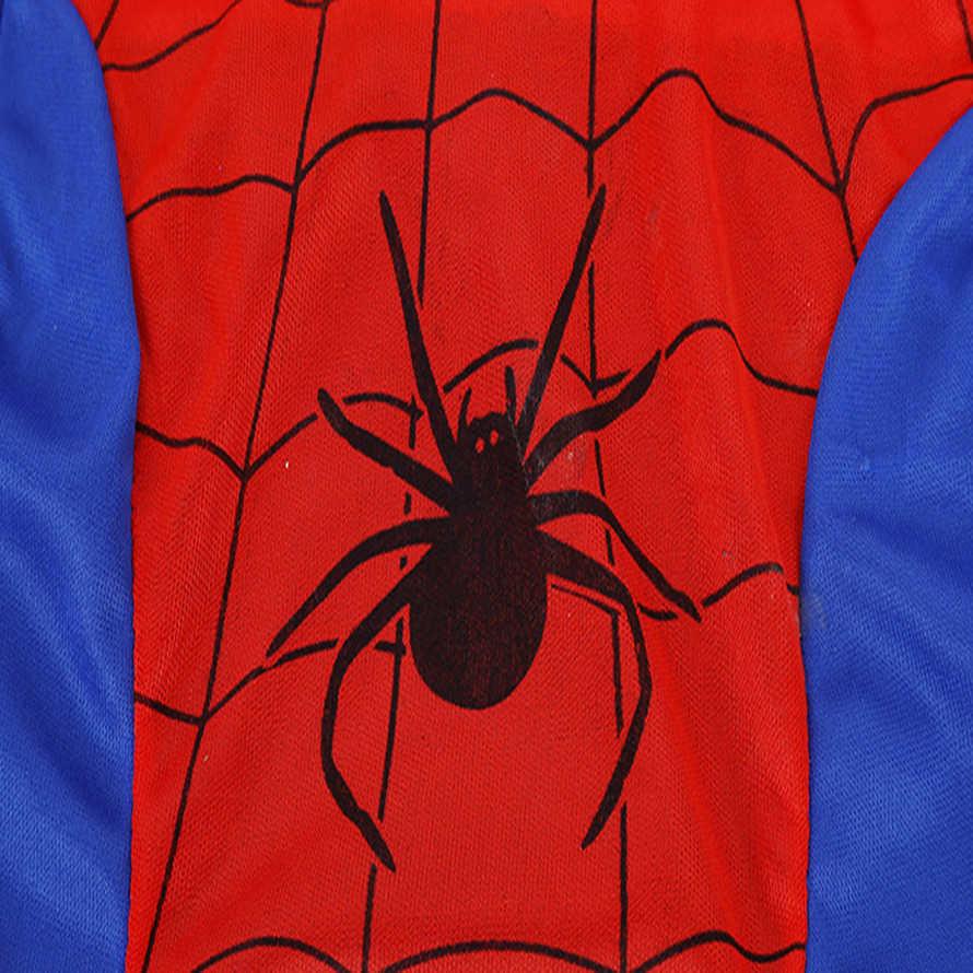 Одежда с человеком-пауком топы для мальчиков с длинными рукавами + штаны + одежда с рисунком маски, комплекты для малышей, костюм Человека-паука для костюмированной вечеринки детский пижамный комплект