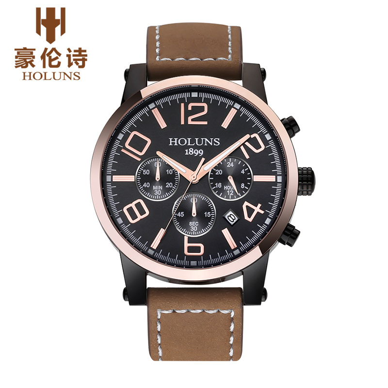 HOLUNS TS104 Watch Geneva Brand Genuine multifunctional luminous watches font b men s b font watches