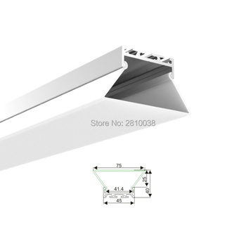 Weight Bar And Weights | 100 X 2M Sets/Lot 6000 Series Led Strip Profile Aluminium Trapeziform Aluminum Profile Led Extrusions For Suspending Lamps
