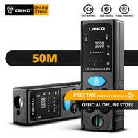 Télémètre Laser portable DEKO LRD110 Original 50M télémètre Laser double mesure numérique Distance/zone/Volume/pythagore