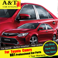A&T For Toyota Camry Window trim car styling 2015 2016 For Camry Stainless steel column stickers Car Special high-quality