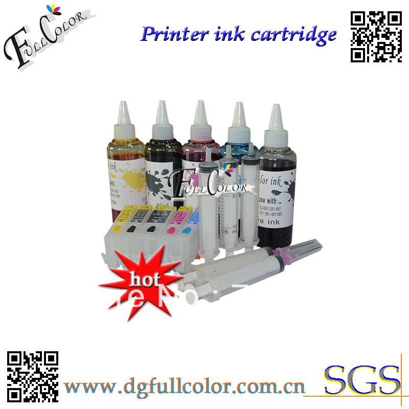 Free Shipping Printer Refill Ink And Refillable Ink Cartridge With ARC Chip For MG5450 IP7250 Printer Ink Refill Kits free shipping printer t157 cartridge refill pigment ink for r3000 printer ink cartridge