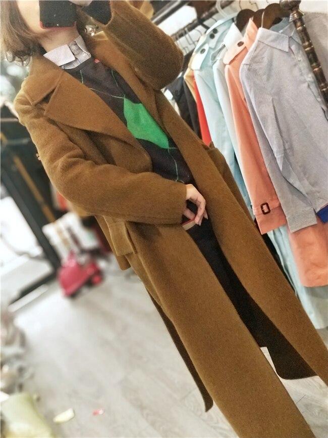 Longue Manteau De Hiver Nouveau Laine Alpaga Qualité Survêtement 2018 Automne Haute Femmes Main Outwear Femelle Mode T5Pxw