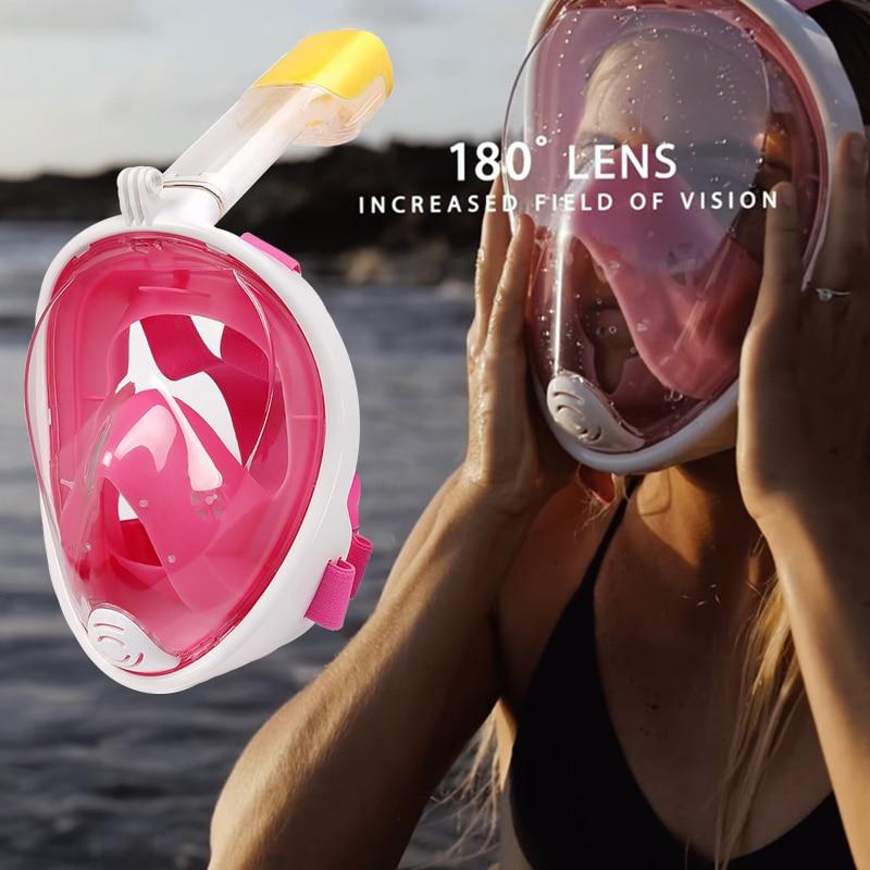 2018 Hot Diving Mask Scuba Mask Underwater Anti Fog Full Face Snorkeling Mask Women Men Swimming