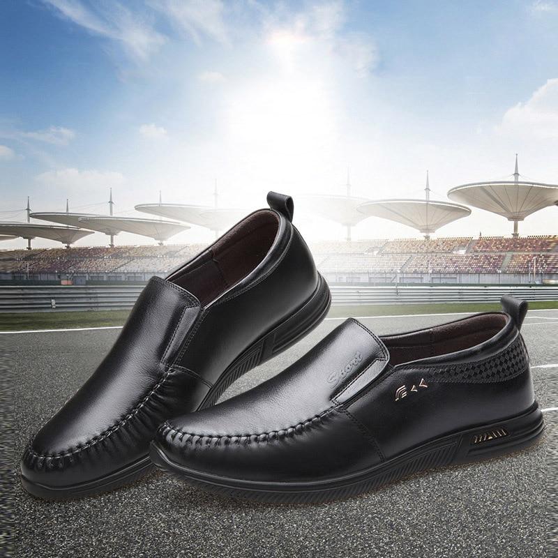2019 black Chaussures Brown Lumière Confortable Père De Et En Doux L'usure Résistant À Cuir Hommes D'affaires Décontractée Nouveaux Respirant rrTUqBcWxw