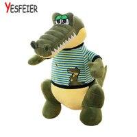 58/68 cm Por Atacado Brinquedos De Pelúcia Dinossauro Verde Dos Desenhos Animados Crocodilo Boneca de Pano Recheado de pelúcia de presente de aniversário