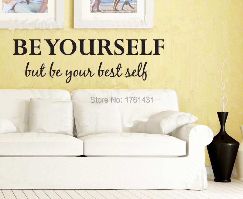 Be Your Best Self home decoration wall art decals living room ...