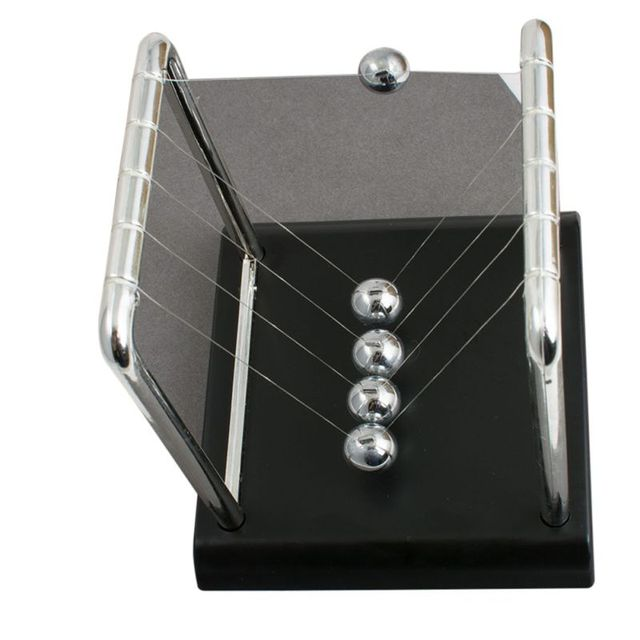 newton pendulum Home Decoration Accessories Newton Cradle Hit Ball Black Base Decoration Science Balance Ball Educational Decor 4