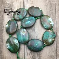 New Arrival Egg Shape Green Dragon Veins Agates Beads,Nature Stone Slab Pendant Beads MY1814