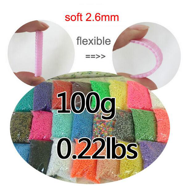 Wholesale 100g/0.22lbs 2.6mm mini hama beads About 9100pcs/bag 100%quality guarantee perler beads PUPUKOU