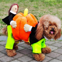 Faster Shipping Pet Costume Dog Coat Fashion Pumpkin Uniform Clothes 100 Cotton Soft Hoodies For Puppy