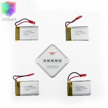3.7 V 1100 mAh Lipo Batterie 4 pcs avec Chargeur Set pour JJRC H11C H11D RC Quadcopter Pièces