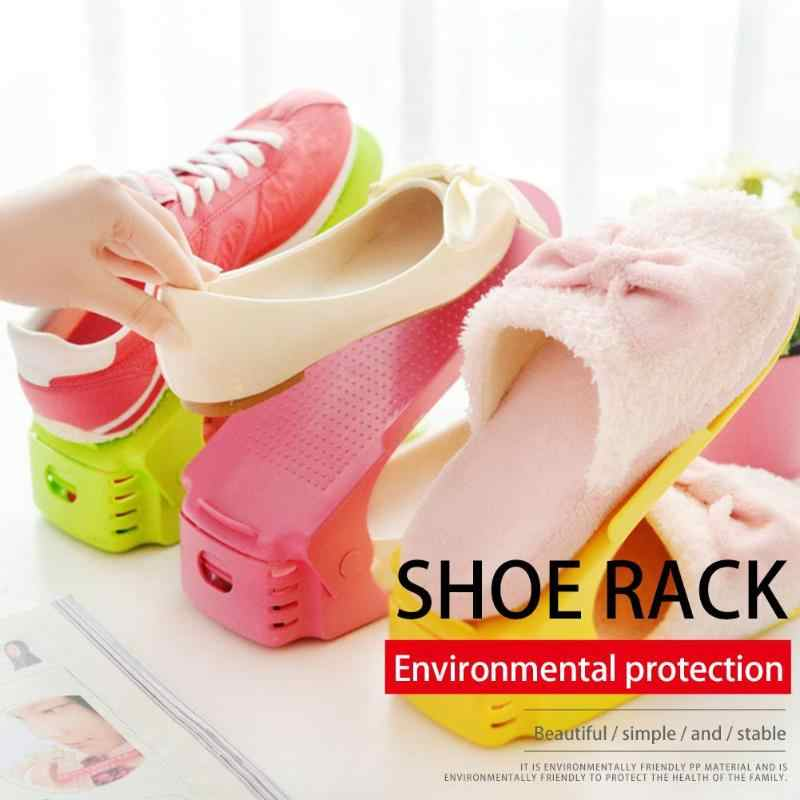 Shoes Organizer Cleaning Shoe Storage Modern Double Layer  Closet Stand Shoes Storage Rack Shoebox Cleaning Stand Shelf