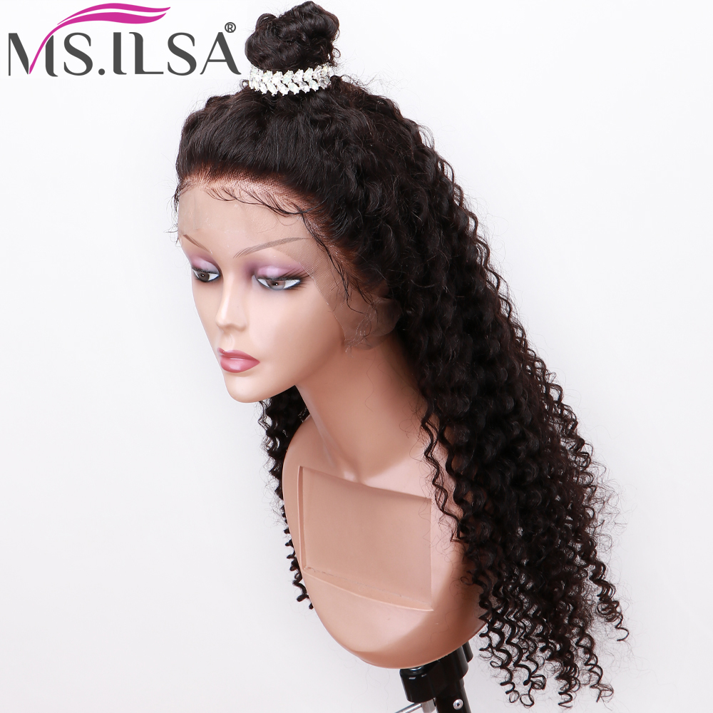 360 Lace Frontal Wigs For Black Woman Curly Human Hair Wigs  Pre Plucked With Baby Hair Brazilian Remy Lace Front Human Hair Wig