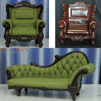 1/6 Scale Armchair Dolls Action Figure Accessories Retro Sofa Model for 12'' Figure Toys 1:6 Soldier