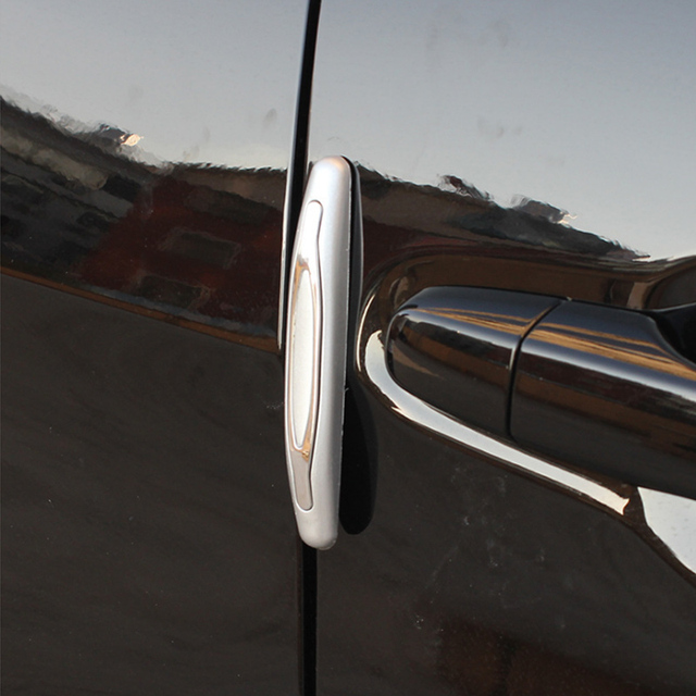Estilo do carro protetor de Borda da porta do carro Faixa Scratch Protetor de Anti-colisão protetor de Borda da porta de carro Porta Lateral Borda Preta protec