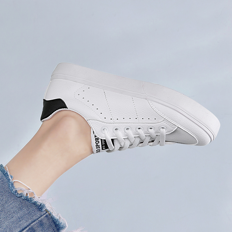 Étudiant Noir Nouveau Chaussures Coréenne Femmes Casual Mode Respirant Femmes blanc Conseil Blanc 2018 a8P4qP