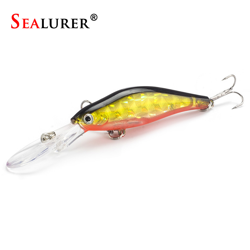 1Pcs Laser Wobblers Fishing Minnow Lure 3D Eyes Sinking Hard Bait Crankbait 6# hook Carp Pesca Fly Fishing Tackle laser fishing minnow lure crankbait tackle 9cm 7 2g hard artificial bait type treble hook carp lure