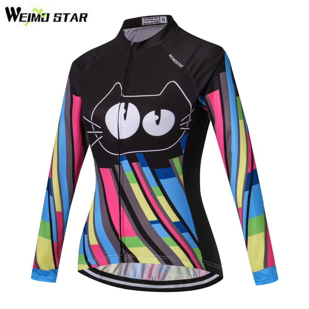Pro Women/'s Cycling Jersey Top Long Sleeve Bike Bicycle Clothing Breathable S-XL