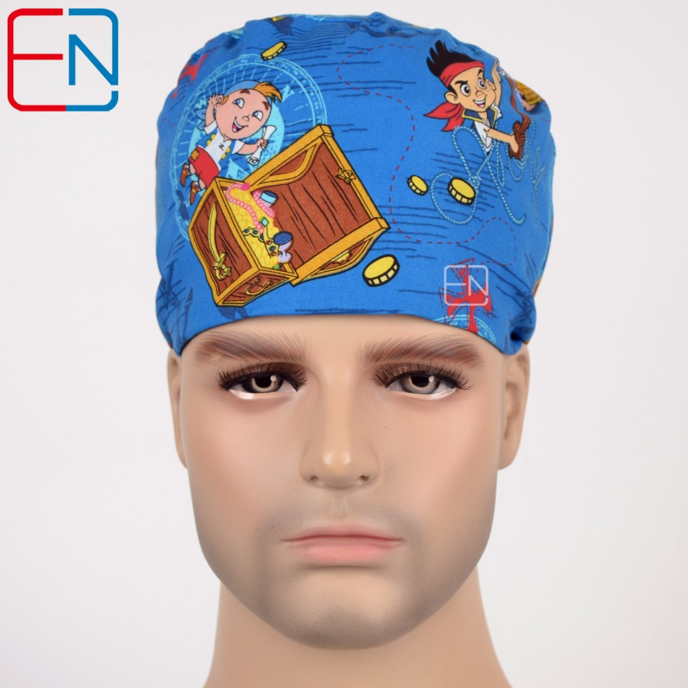Hennar Surgical Scrub Caps 2018 Hot Selling Medical Caps Masks 100% Cotton Hospital Doctor Clinic Surgical Nursing Caps Unisex