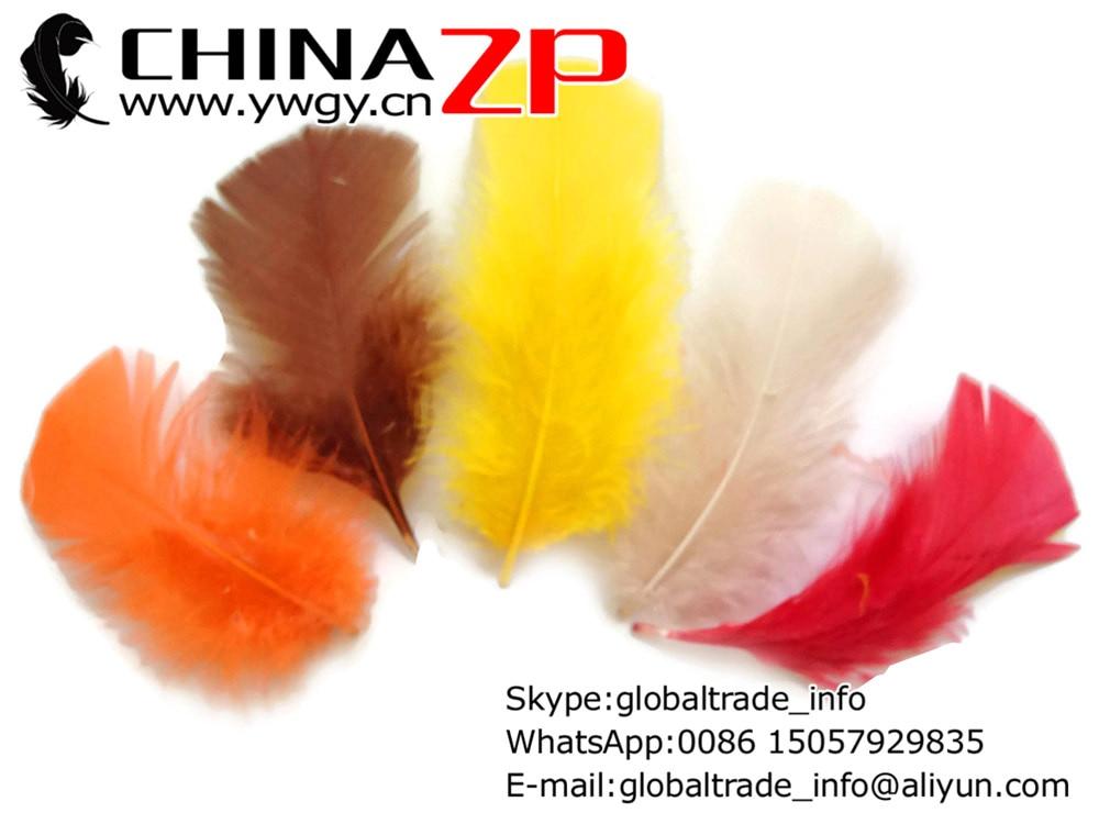 bulk ORANGE Turkey T-Base Plumage Wholesale Feathers 1//4 lbs