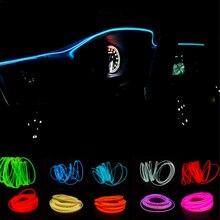 JURUS 2 метра автомобильный неоновый светильник s атмосферная лампа автомобильный интерьерный светильник Светодиодная лента El холодный светильник декоративная лампа приборная панель консоль
