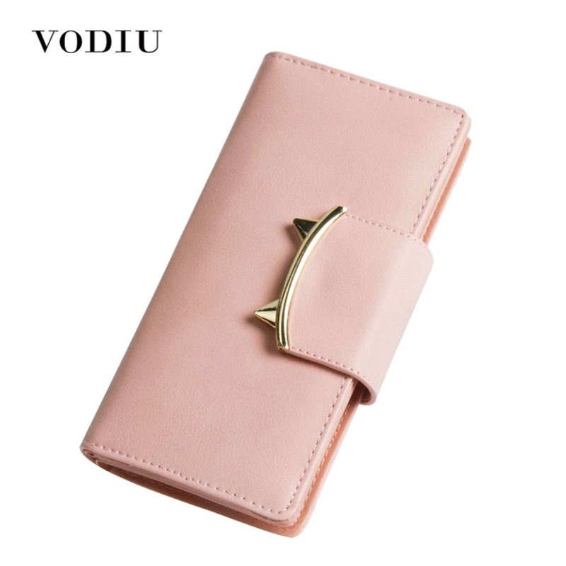 Women Wallets Leather Long Anime Tassel Fringe Card Holder Coin Photo Phone Dollar Price 2017 Clutch Female Cat Purse Designer dc movie hero bat man anime men wallets dollar price short feminino coin purse money photo balsos card holder for boy girl gift