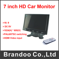 7 Inch VGA LCD Monitor HD Car DVR Monitor With HDMI Input