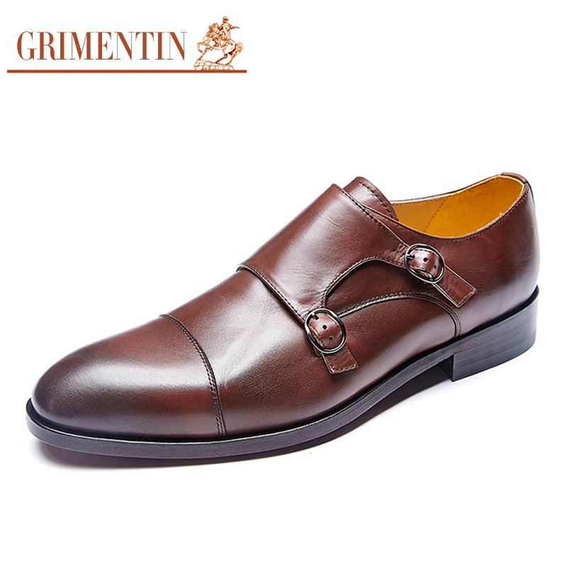 05eb42521e GRIMENTIN brand custom mens dress shoes genuine leather double monk strap  Italian handmade men shoes-in Formal Shoes from Shoes on Aliexpress.com |  Alibaba ...