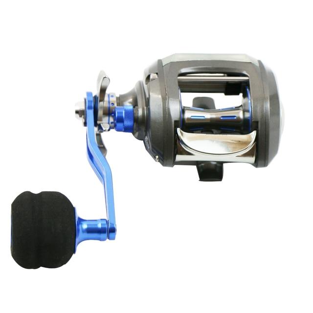 AI-SHOUYU Fishing Reel for Big Game Aluminium Alloy Body Max Drag 10kg High Speed 7.0:1 EVA Handle Casting Fishing Reel 12+1BB