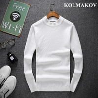 KOLMAKOV Men's Sweaters 2019 NEW Autumn O neck Sweater Men Soft Cotton Knitted Pullovers For Men In Winter M 4XL Sweaters Male