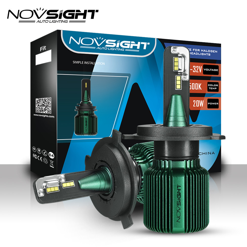 NOVSIGHT Car Headlight H4 Hi Lo Beam LED H7 H8 H9 H11 H13 9005 HB3 9006