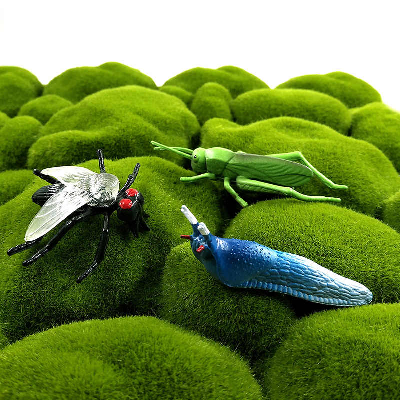 12pc inseto animal modelo figura de ação libélula besouro aranha formiga gafanhoto mantis barata cricket brinquedo quente conjunto para crianças