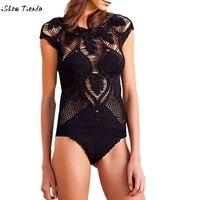 2017 Nouveau Solide Tricoté Maillot de Bain Évider Sexy Femme Maillot de Bain 2017 Nouveaux maillots de Bain Bikini En Gros Bikini Brésilien plavky