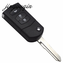 jingyuqin 3 Buttons Key Shell fit for MAZDA 2 3 5 6 RX8 MX5 Flip Remote Case Fob Replacement 3 BTN