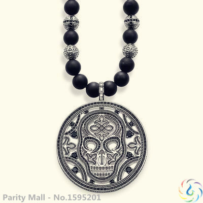 Skull Pendant Necklace Thomas Style Rebel At Heart Good Jewelry For Men & Women 2015 Ts Gift In silver-plated