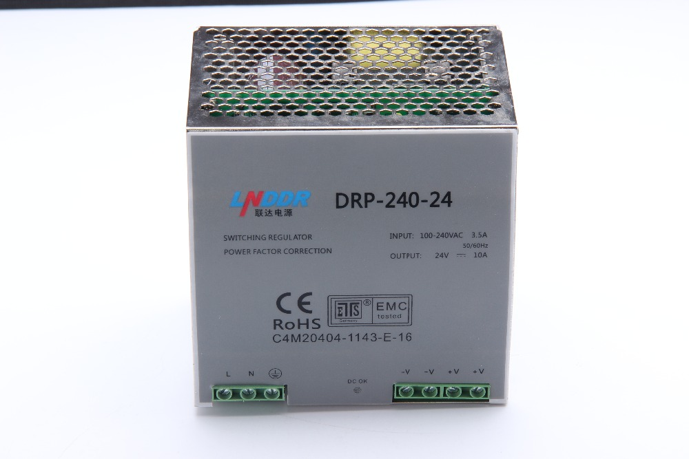 DR-240-24 240W 24V 10A Din rail Single Output Switching power supply ac dc converter SMPS dr 240 12 240w 12v 20a din rail single output switching power supply ac dc converter smps