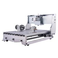 Mini torno de alumínio cama 1605 parafuso da esfera 4 eixos cnc roteador máquina quadro kit 3040 para diy moagem