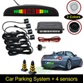 Car LED Parking Sensor Kit Display 4 Sensors 22mm 12V for all cars Reverse Assistance Backup Radar Monitor System Free Shipping