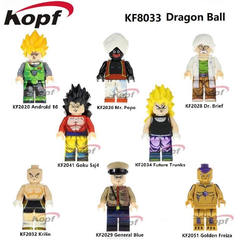 KF8033 Singola Vendita di Costruzione Bocks Z Figura Dragon Ball Krilin Android 16 il Dott. Breve Generale Bule Mr. Popo mattoni giocattoli Dei Bambini del Regalo