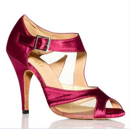 2017 Brand Women s Latin Dance font b Shoes b font Satin Ballroom Dancing font b