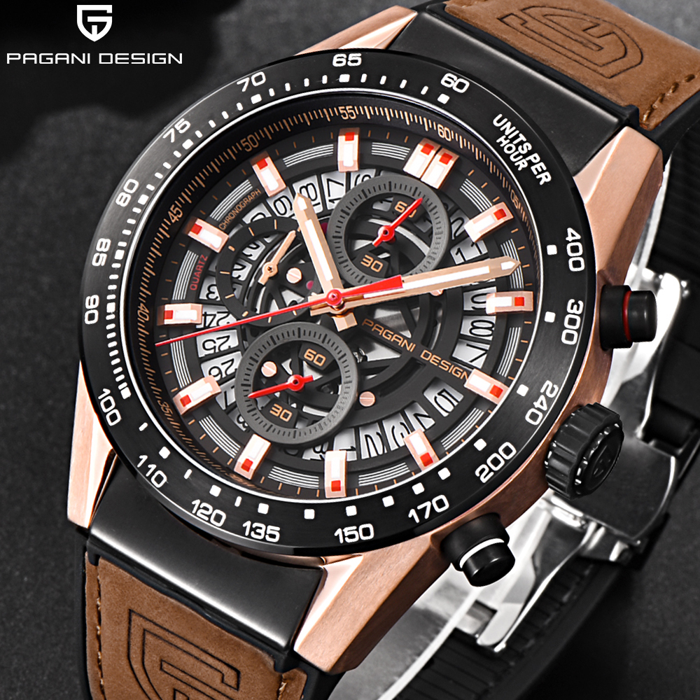 Pagani design Mens Watches Top Brand Luxury Quartz Men Watch leather silicone Strap Casual Sport Male clock Relogio Masculino pagani design mens watch fashion luxury brand clock male casual sport wristwatch men pirate skull style quartz watch reloj hombe