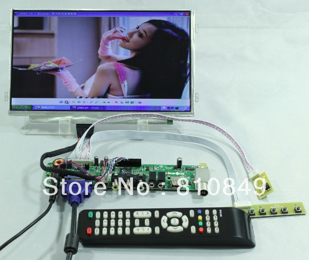 TV HDMI VGA AV USB AUDIO LCD Controller Board+10.1B101AW06 1024x600 LCD ScreenTV HDMI VGA AV USB AUDIO LCD Controller Board+10.1B101AW06 1024x600 LCD Screen