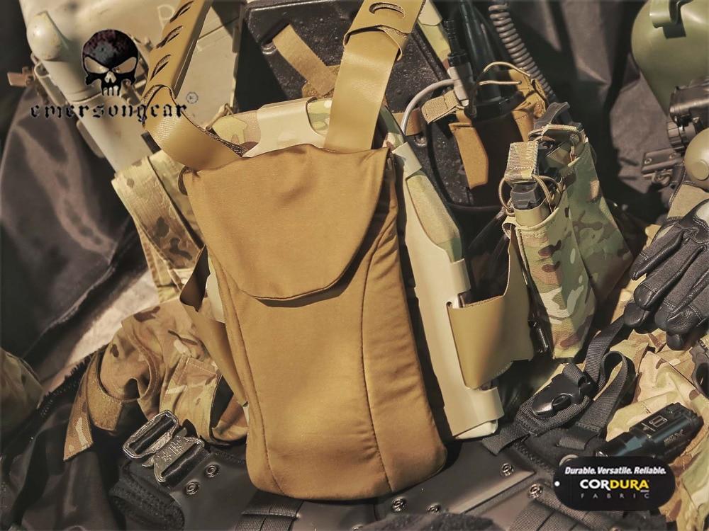 Vermetel Militaire Airsoft Waterzak Hikking Tactische Emersongear Ss Stijl Precisie Hydratatie Pouch Fac Tactical Vest Coyote Brown Em7366 Comfortabel Gevoel