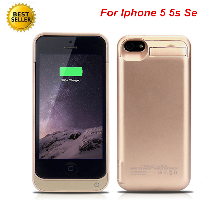 For <font><b>Iphone</b></font> 5 <font><b>Battery</b></font> <font><b>Case</b></font> 2019 4200 Mah External <font><b>Battery</b></font> Charger <font><b>Case</b></font> Power Bank For <font><b>iPhone</b></font> 5 <font><b>5S</b></font> SE <font><b>Battery</b></font> <font><b>Case</b></font> image